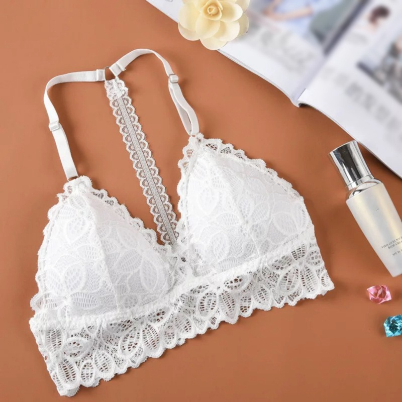 Women Bralette Women White Black Lace Tube Top Sexy Brassiere Lace Bra Wrapped Chest Wire Free Crop Tops