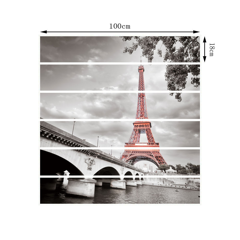 France Tower 3D Stair Wall Stickers Risers Decoration Photo Mural Vinyl Decal Wallpaper Restaurant Wallpaper Home Decorate in Wall Stickers from Home Garden