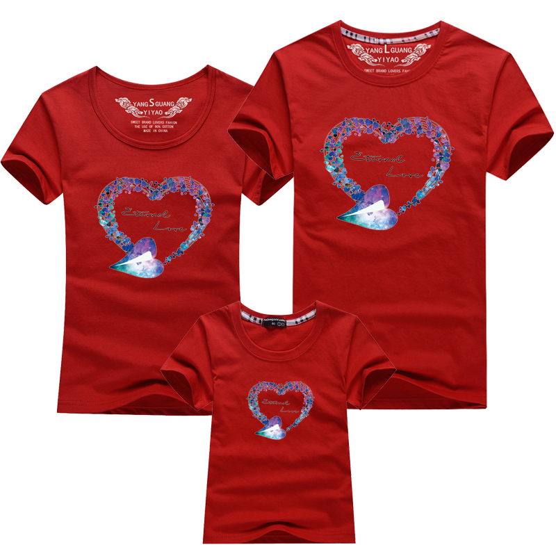 HTB1yWBpPFXXXXcXXVXXq6xXFXXXB - Mommy and Me Clothes Family Look Summer LOVE Ggarland Pattern Family T Shirt Father and Son Clothes Family Matching Outfits