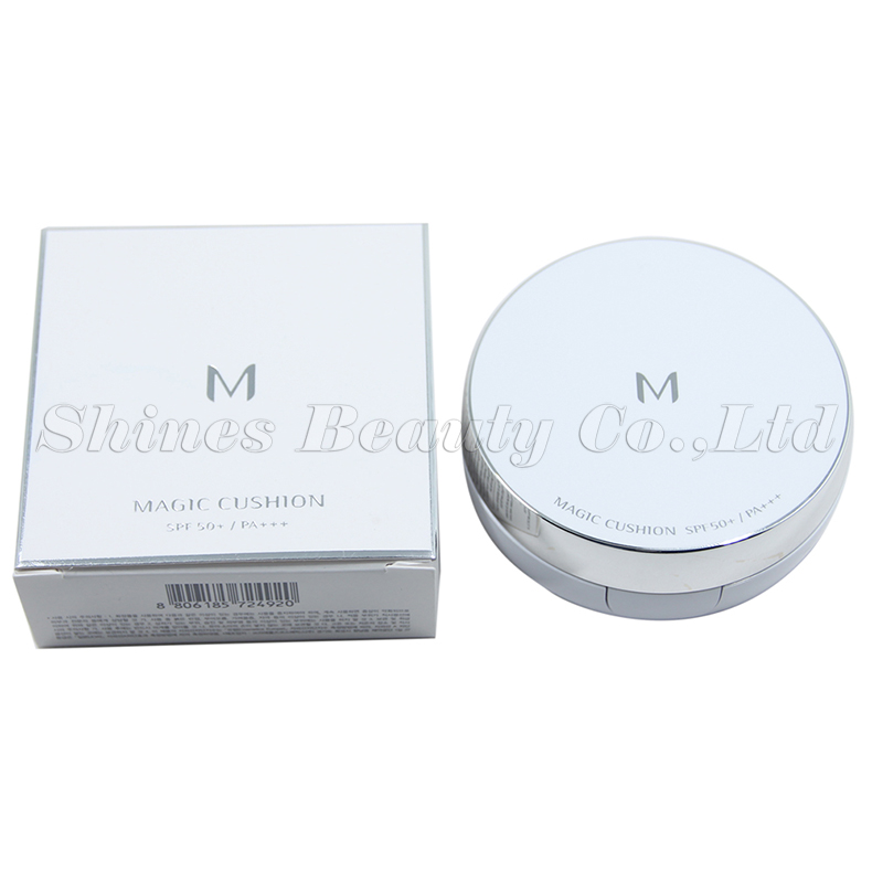 Korean cosmeticsmagic BB cushion cream makeup moisture SPF50+ (No Refill )cushion 15g whitening flawless air BB cream