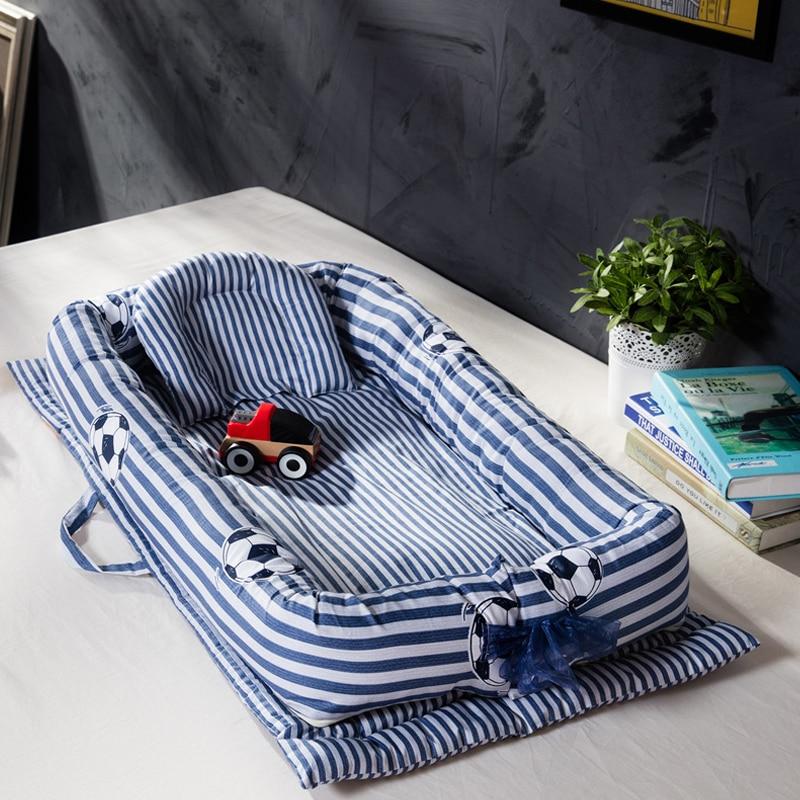 Baby Nest Bed Crib Portable Removable Washable Travel For Children kid Infant Kid Cotton Cradle Newborn Bumper
