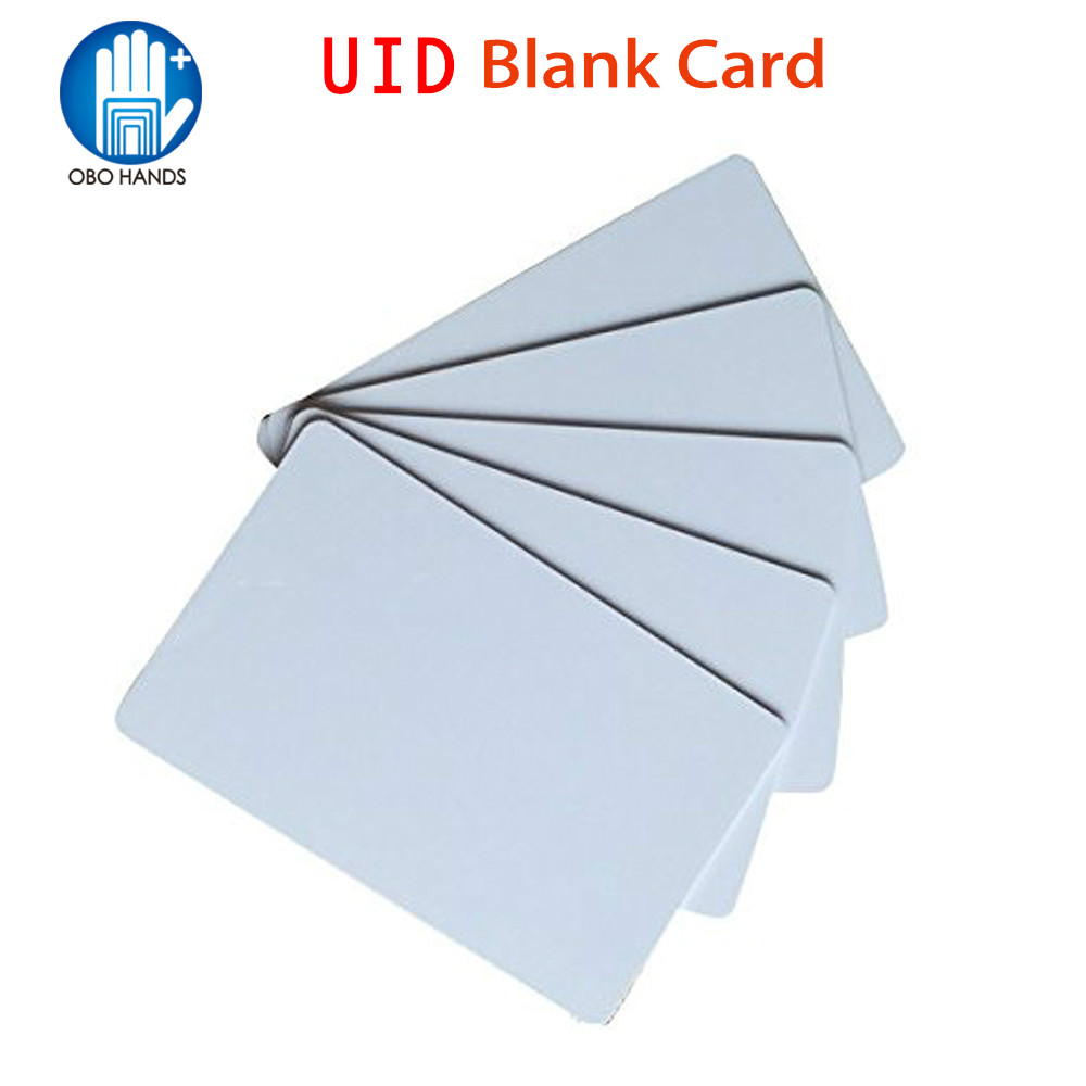 (pack Of 10/20/50/100) 13.56MHz RFID UID Smart Writable And Rewrite Card Proximity PVC Blank Card For Door Access Control System