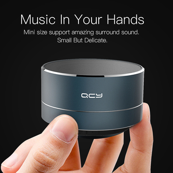 QCY Mini Bluetooth Speaker Portable Wireless Speaker Sound System Audio Music Player Subwoof with MIC support TF card FM radio