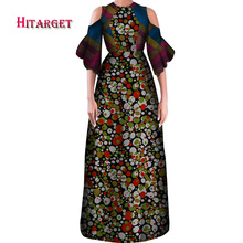 Danshiki  Elegant Women African Dresses Wax Print Cotton Maxi Dress Sexy Bodycon Long Party Africa Clothing WY4082