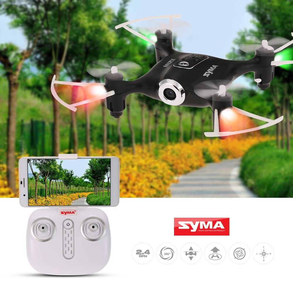 Syma X21W Wifi FPV 720 P caméra Drone baromètre mis en hauteur RC Drone quadrirotor jouets APP téléphone contrôle avec contrôleur de batterie