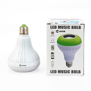 Image 5 - Vontar Thông Minh LED E27 Loa Bluetooth Không Dây 12W RGB Bóng Đèn LED 110V 220V Nghe Nhạc âm Thanh Có Điều Khiển Từ Xa