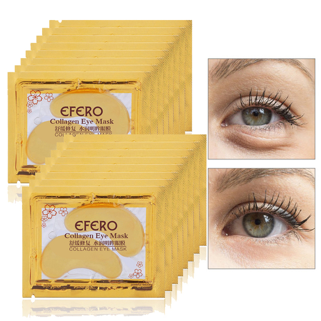 EFERO 5Pair Gold Eye Mask Collagen Eye Care Gel Patches for the Eyes Masks Anti Wrinkle Ageless Moisturizing Dark Circles Puffy