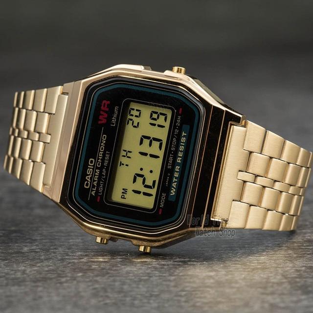 Casio assista homens relógio de ouro top marca de luxo led digital à prova d 'água de quartzo homens relógio esportivo militar relógio de pulso reloj hombre erkek kol saati montre homme zegarek meski A168WG-9 1