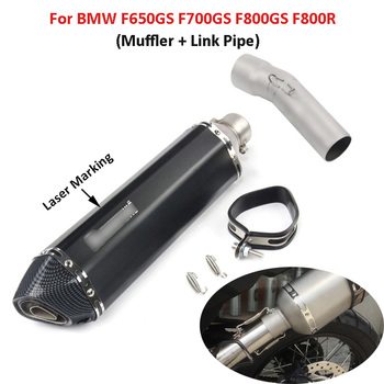 Motorcycle Exhaust System Mid Connect Tube Pipe Muffler With Removable DB Killer Silencer For BMW F650GS F700GS F800GS F800R