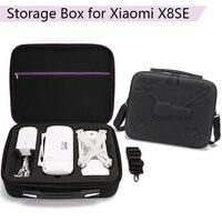 Su geçirmez taşınabilir el çantası saklama çantası taşıma çantası FIMI X8SE mor fermuar kutusu bavul FIMI X8 SE aksesuarları