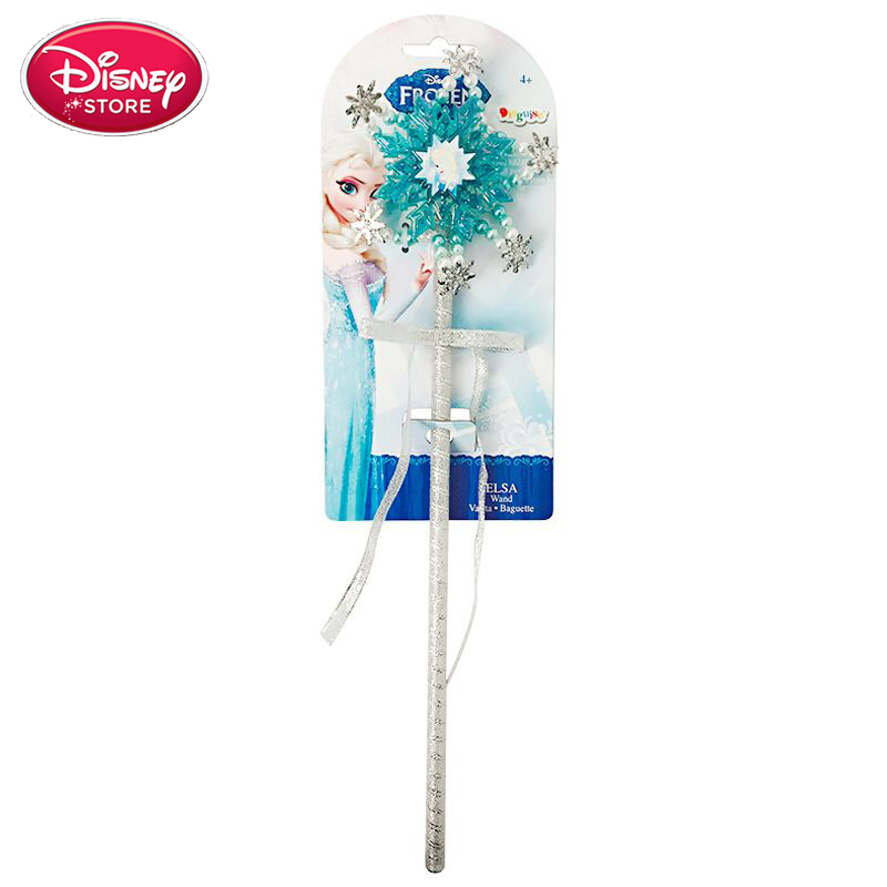 Disney Princess Crown Snowflake Wand Disney Frozen Anna Elsa Cosplay Set Make Up Toy Baby Kids Birthday Christmas Party Gift