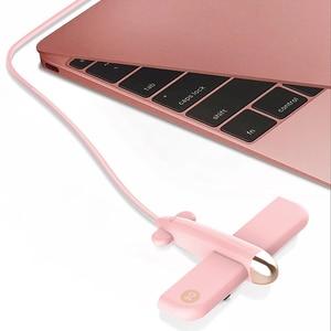 Image 4 - USB パンダハブデータハブ USB スプリッタミニ USB 2.0 ハブ 4 ポート macbook ラップトップのタブレットコンピュータ OTG USB ハブ