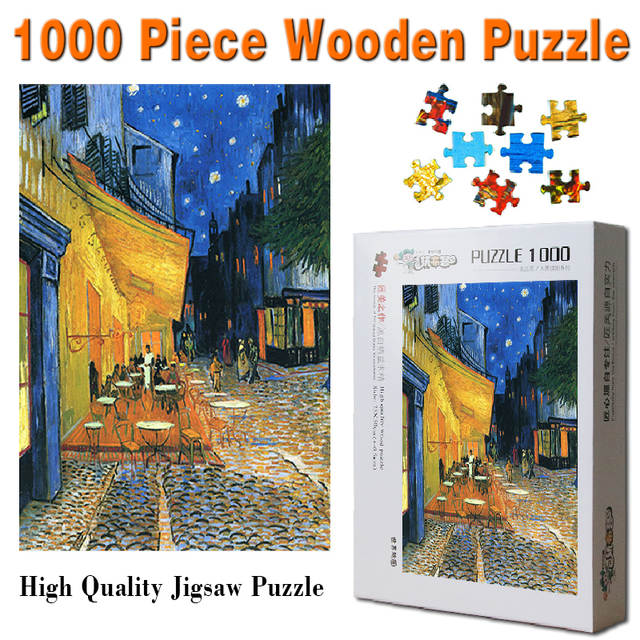 Us 24 8 The Cafe Terrace On The Place Du Forum Arles At Night 1000 Pieces Wooden Jigsaw Puzzle For Adult Toys Gift Home Decoration In Puzzles From