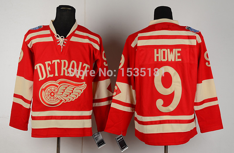 buy popular 6ac73 e6497 Best Men's Detroit Red Wings Throwback Hockey Jerseys #9 ...