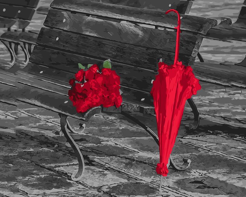 Ombrello Rosso Vernice Di Diy Da Numbers Soggiorno Decorazione Della Stanza Della Pittura Immagini Della Pittura A Olio Da Numbers Disegno By Numbers 40x50 Cm Lussuoso Nel Design