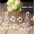 Элегантный отделка кружевом, Музыкальные ноты кружево, Растворимый в воде, Для скрапбукинг ( ss-3007 )