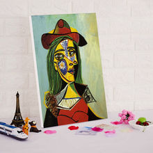 diy digital painting Pablo Picasso women portrait famous oil  paint by numbers abstract paintings