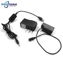 DMW BLF19 batería simulada DMW DCC12 acoplador DC + adaptador de Cable USB + 5V3A de potencia para cámaras Panasonic Lumix DMC GH3 GH4 GH5