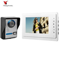 Yobang Security Home Security 7 inch TFT LCD Monitor Video Door phone Video Intercom System With Night Vision Doorbell Camera