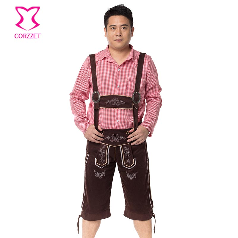 Oktoberfest Games Party Bavarian Beer Man Role Playing Outfit Halloween Costume For <font><b>Men</b></font> <font><b>Sexy</b></font> <font><b>Cosplay</b></font> Costumes Plus Size Disfraz image
