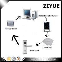 Электронный смарт карты RFID отель замок Системы RFID Бесплатная Управление программного обеспечения (1 замок, 1 шт. кодер, 5 шт. карты, программно