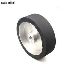 250*75 millimetri In Gomma Piena Ruota di Contatto In Modo Dinamico Equilibrato di lavoro con Nastro Abrasivo