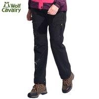 CavalryWolf Women Autumn Winter Inner Fleece Hiking Pants Outdoor Sports Waterproof Trekking Camp Female ski pant