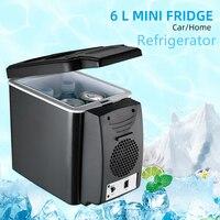 12V 6L двойной автомобильный холодильник Многофункциональный Контроль температуры портативная коробка охладитель теплее общежития Банки Ох...