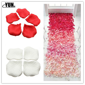 Image 1 - A. 1000Pcs Wholesale Wedding Rose Petals Decorations Flowers Polyester Wedding Rose New Fashion 6D
