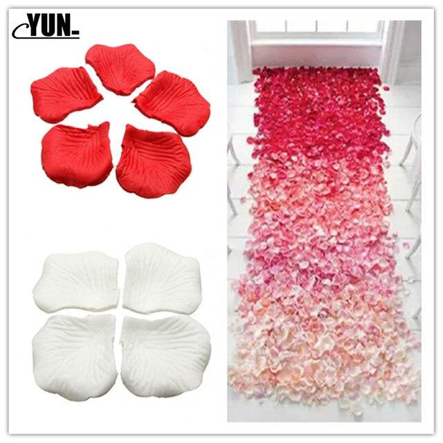 A. 1000Pcs matrimonio allingrosso petali di rosa decorazioni fiori poliestere matrimonio rosa nuova moda 6D