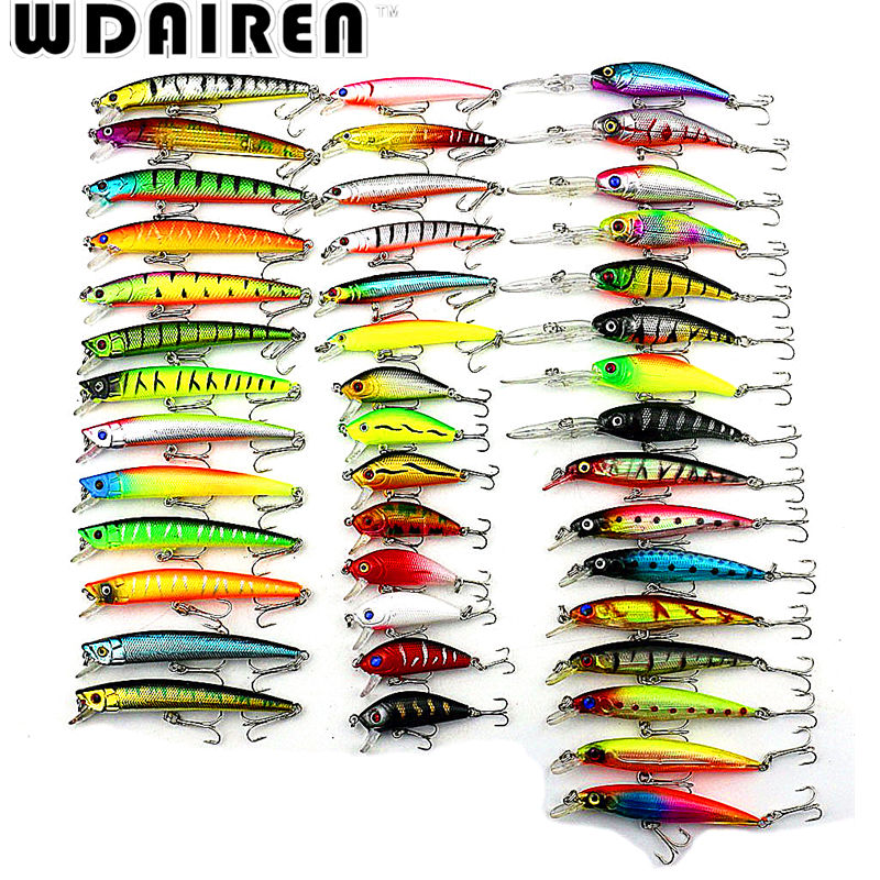 43Pcs/set Almighty Fishing Bait Suit Mixed Fishing Lure Set Kit Wobbler Crankbait Swimbait With Treble Hook TZ-43PC wldslure 1pc 54g minnow sea fishing crankbait bass hard bait tuna lures wobbler trolling lure treble hook