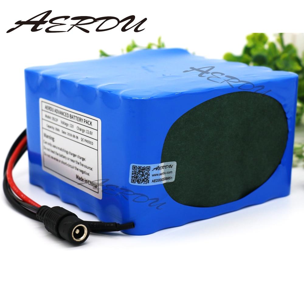 AERDU 3S12P 12V 30Ah 11.1V 12.6V Rechargeable lithium ion battery pack For inverter miner Hernia lamp Solar street light 60A BMS