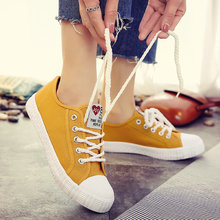 Dropshipping 2018 new autumn fashion women casual flats canvas shoes lady lace up breathable lightweight shallow sneakers WD-72
