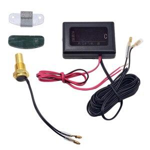 Image 3 - 1PC 12V 24V Universal Digital Wasser Temperatur Gauges für Auto + Wasser Temperatur Sensor Kopf Stecker 10MM 12 14 MM 16MM 17MM 21MM