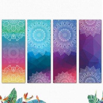 Colorful Rubber Yoga Mat 1mm Anti Slip Foldable Portable Urltra-Light Pilates Exercise Mats Yoga Mat Cover Fitness Yoga Pad