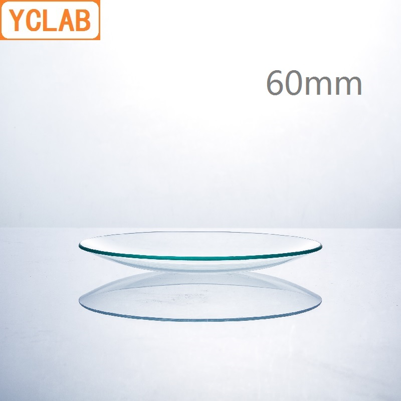 YCLAB 60mm Watch Glass Beaker Cover Domed Hard Glass Laboratory Chemistry Equipment