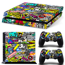 Protector Cover Skin For PS4 Vinyl Skin Sticker Cover For PS4 Playstation 4 Console + 2 Controller Decal Game Accessories стоимость