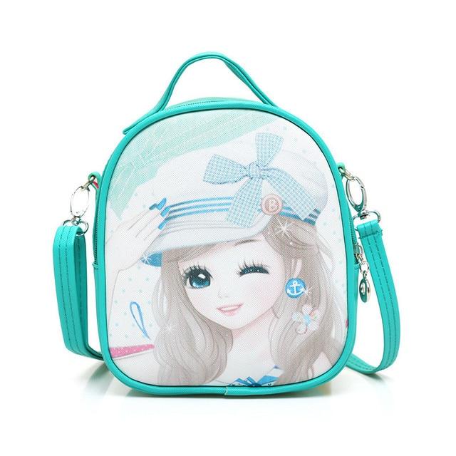 Children Small Messenger Bag Kids Shoulder School Bags For S Kindergarten Cartoon Princess Printing Mochila