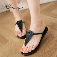 The Summer New 2015 Women Shoes Bohemian Rome Flat Sandals Leisure White Black Silver Flip Flops