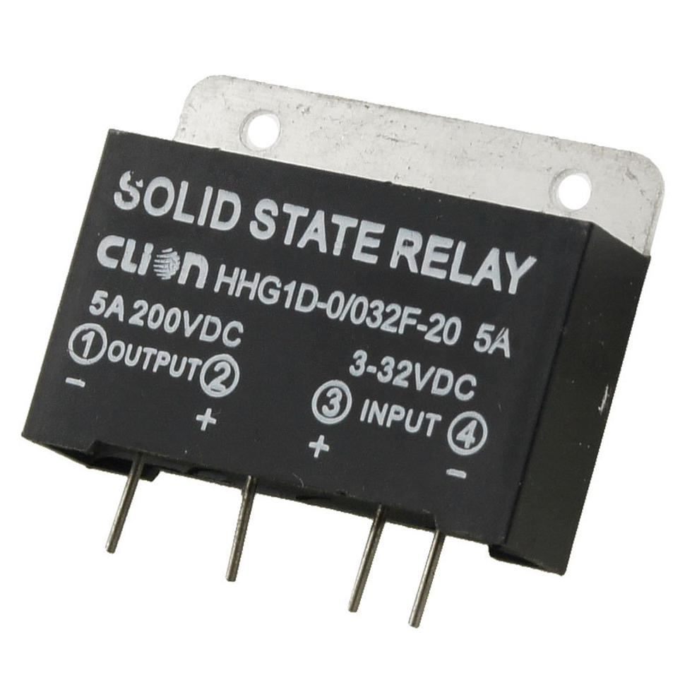 Heat Sink Input 3-32V DC Output 5A 200V DC PCB Mount SSR Solid State Relay wsfs wholesale 2 x heat sink input 3 32v dc output 5a 200v dc pcb mount ssr solid state relay