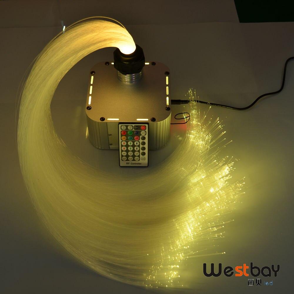 Date 32 w RGB 4 niveau-vitesse Twinkle LED Fiber Optique Lumière kit 600 pcs 4 m 0.75mm + 28key RF à distance