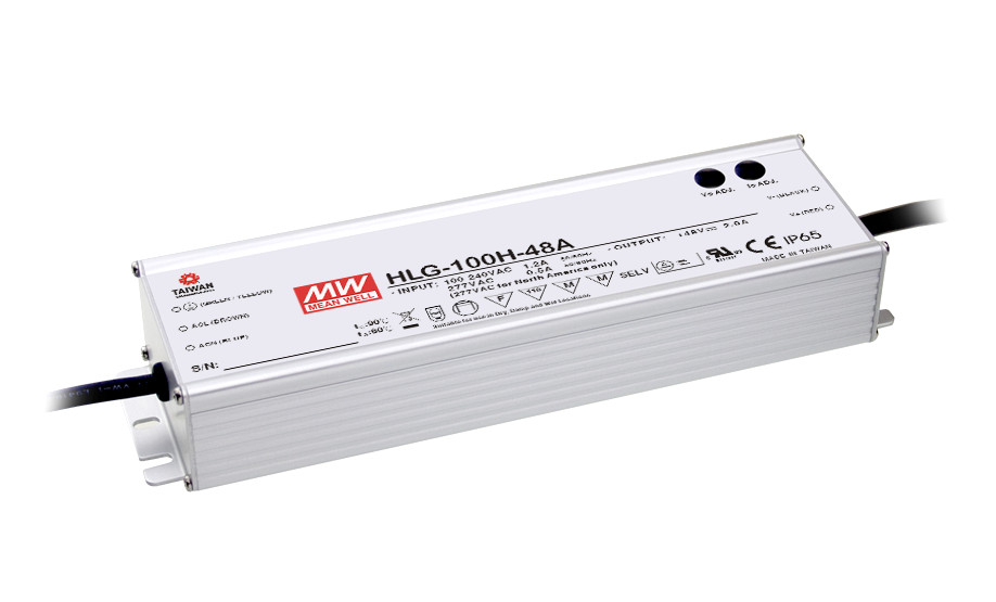 PowerNex Mean Well HLG-100H-42 42V 2.28A 95.76W Single Output Switching LED Power Supply with PFC