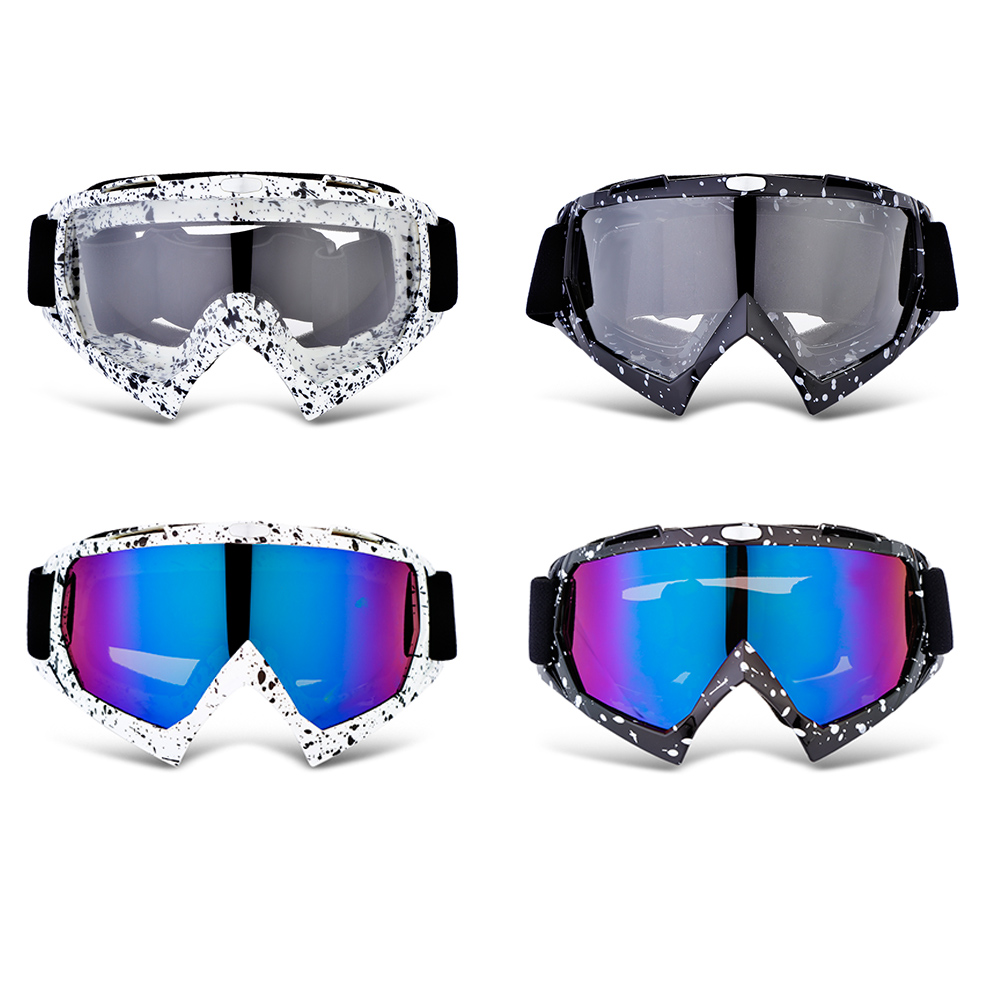 Fashionable Design X400 Motorcycle Goggles for Motocross Skiing Outdoor Riding with Colorful transparent lens Unisex 4 Colors