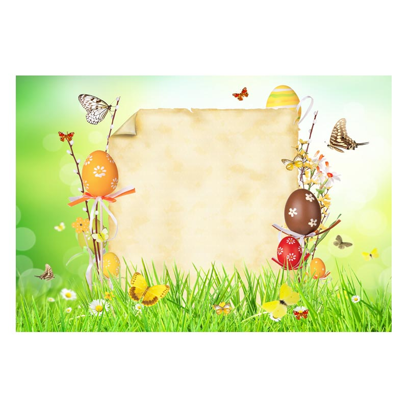 2.2MX1.5M thin vinyl Photography Backdrop Custom Photo Prop easter backgrounds GE-178