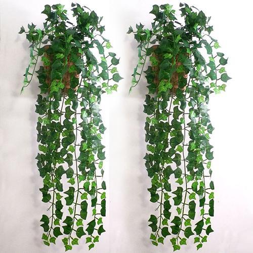 Artificial Ivy Green Leaf Garland Plants Vine Fake Foliage Home Room DIY Wall Decor