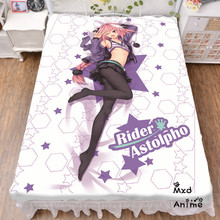Japanese Anime Fate Grand Order Astolfo Bed sheet Throw Blanket Bedding Coverlet Cosplay Gifts Flat Sheet cd058