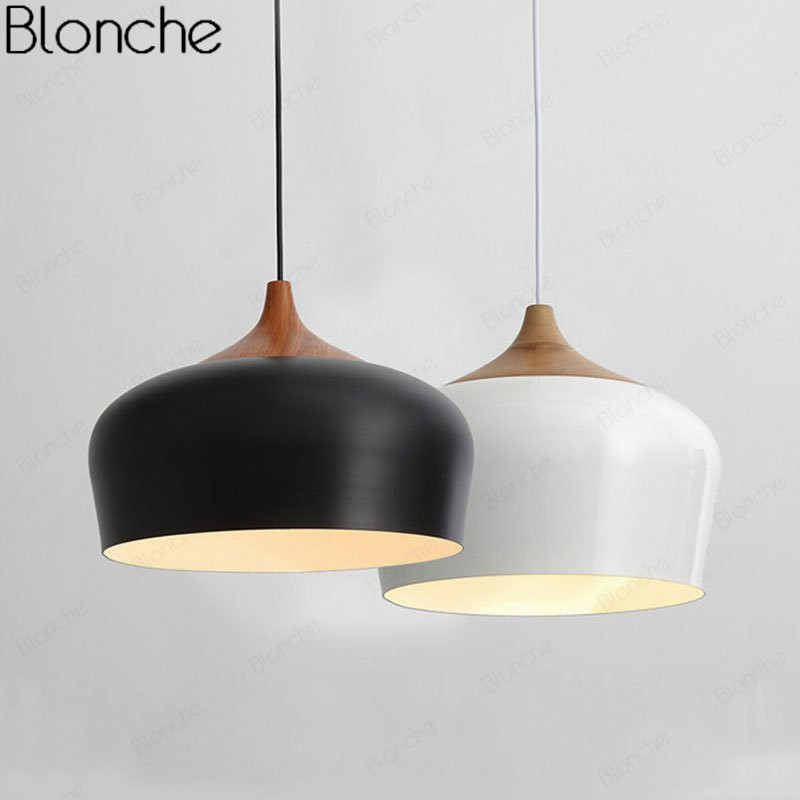 Nordic Pendant Lights Wooden Pendant Lamp for Home Kitchen Bar Lighting Fixtures Modern LED Hanging Lamp Aluminum Lampshade E27Nordic Pendant Lights Wooden Pendant Lamp for Home Kitchen Bar Lighting Fixtures Modern LED Hanging Lamp Aluminum Lampshade E27