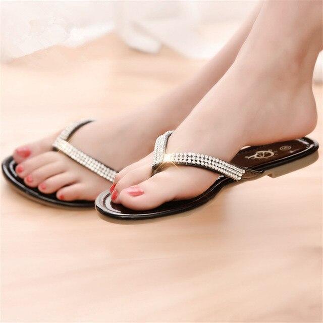 Горячие продажи женщин флип-флоп женская обувь мода горный хрусталь женская обувь с открытым носком гладиатор сандалии женщин DT194