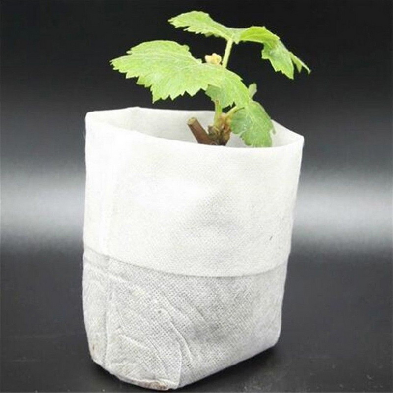 100 Pcs Nursery Environmental Supplies Bags Pots Seedling-Raising Garden Non-woven Fabrics