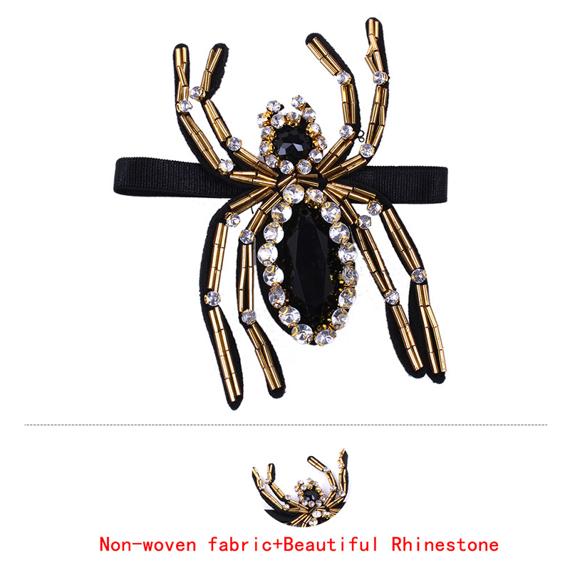 High Quality 1 Pair Rhinestone Spider Crystal for High Heels Shoes Manual DIY Shoe Decorations Wedding Party Shoes Accessories in Shoe Decorations from Shoes